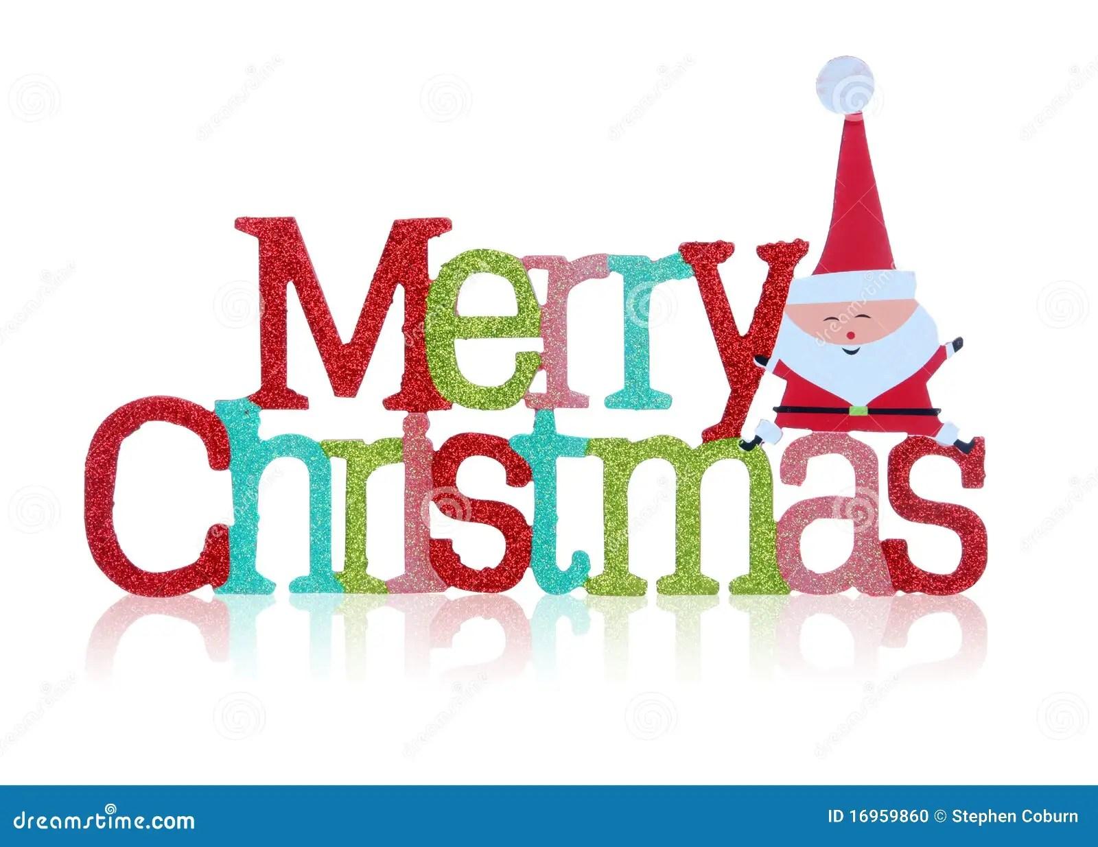 merry christmas sign stock
