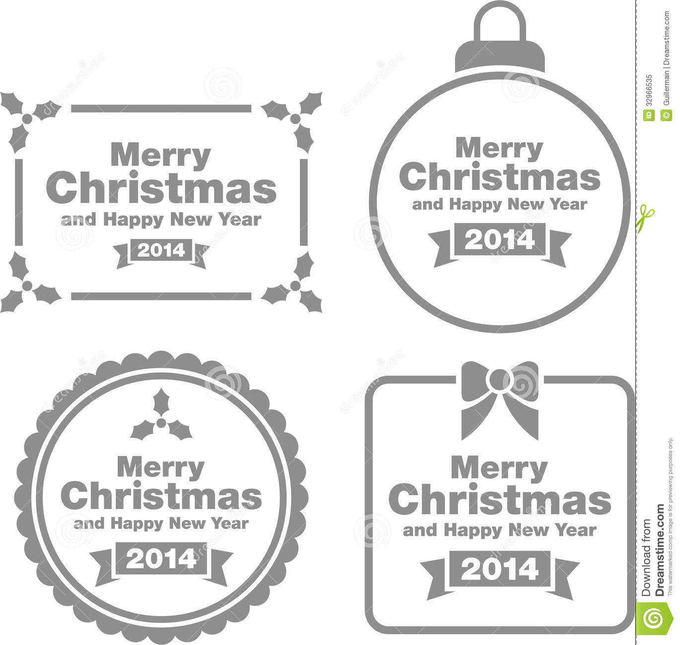 Merry Christmas Signs Stock Vector Image Of Thousand