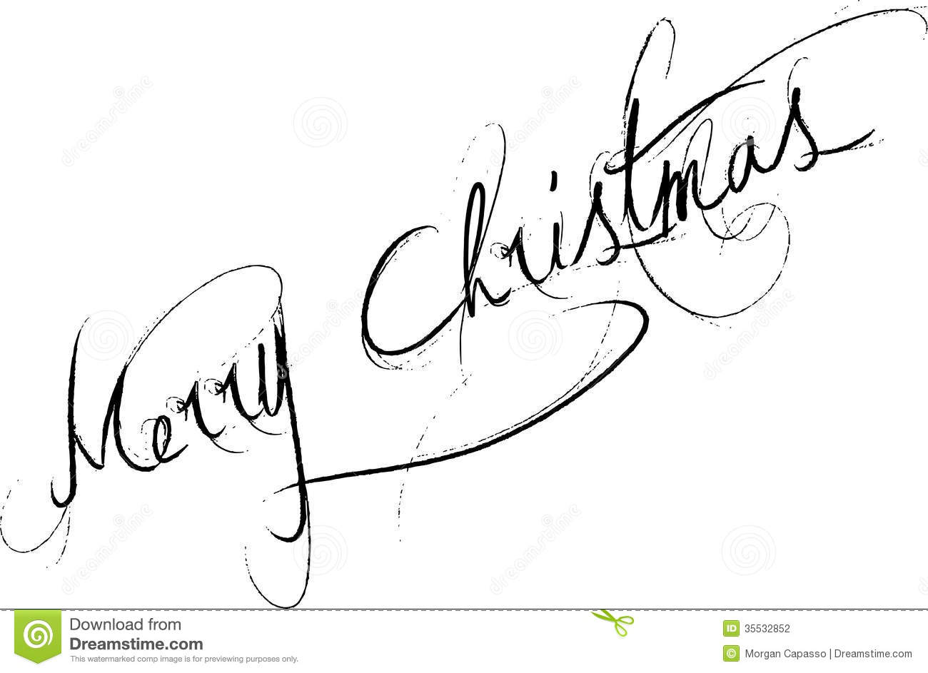 Merry Christmas Stock Vector Image Of Christmas Message