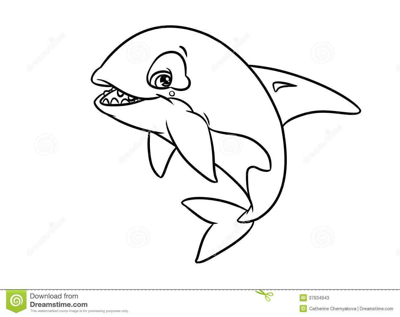 Merry Orca Illustration Coloring Pages Stock Photos