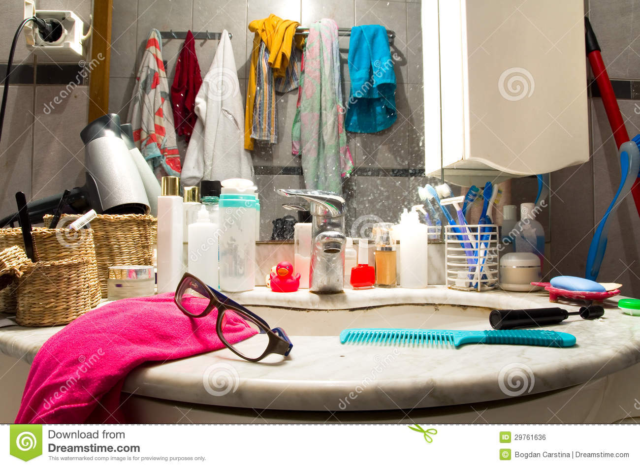 Messy bathroom stock photo Image of sink unhygienic  29761636