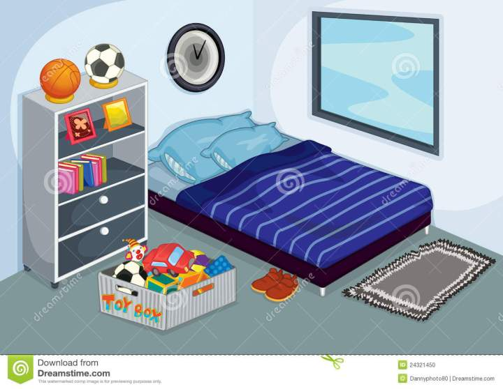 Messy Bedroom Stock Vector Ilration Of Photos Tidy 24321450