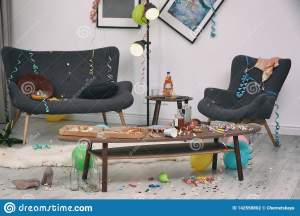 messy living interior apartment chaos