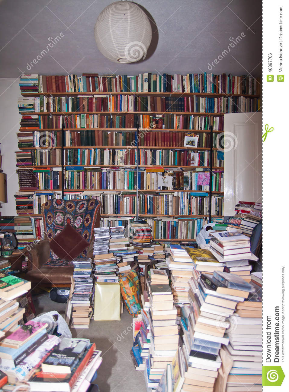 Messy Room Full Of Books Editorial Photo  Image 46887706