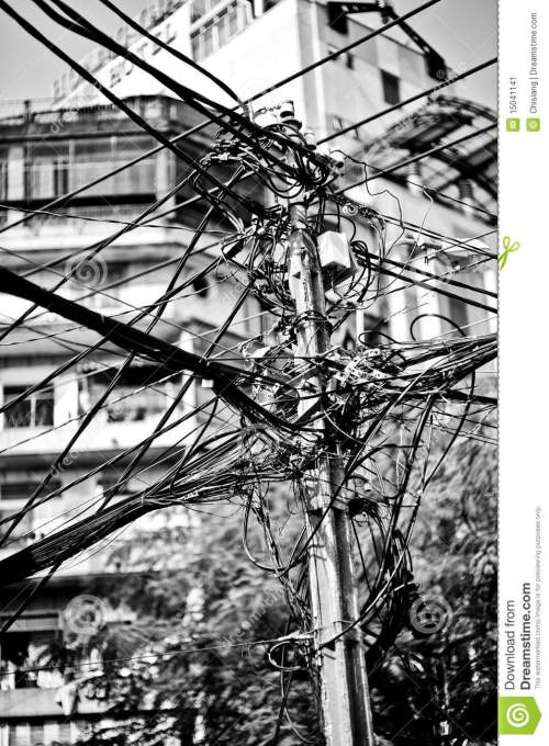 small resolution of messy telephone cables