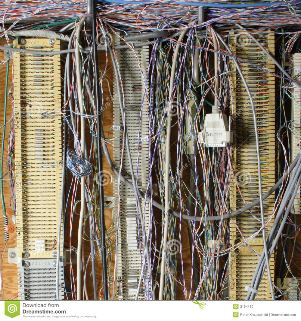 medium resolution of messy wires from old phone system