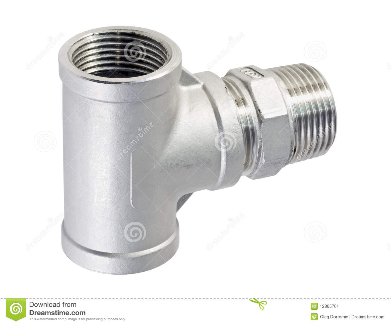 Metal piece of pipe stock image. Image of building, handle
