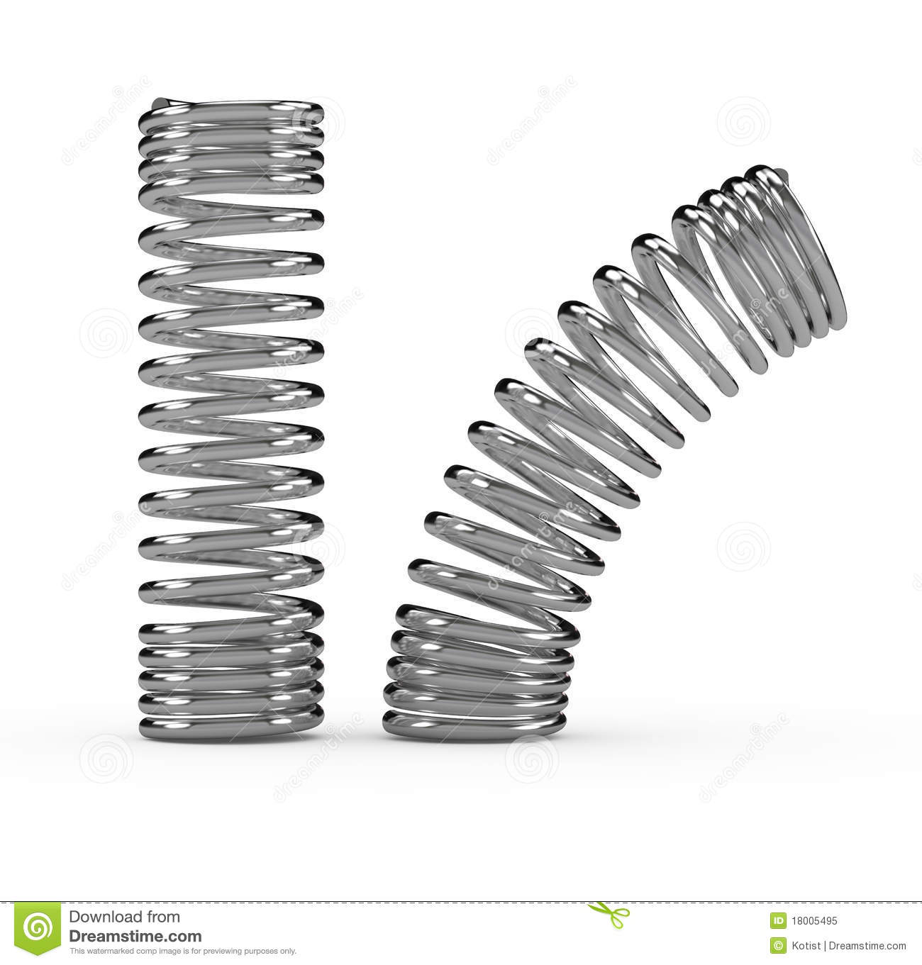 Metal Spring Stock Illustration Illustration Of