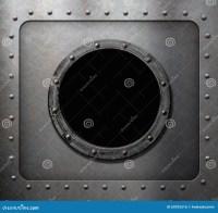 Metal Submarine Or Ship Porthole Window Stock Photo ...