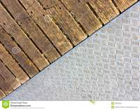 Metal and wood floor stock photo. Image of stripes, rough ...