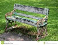 Metal And Wood Garden Chair Stock Image - Image: 47263649