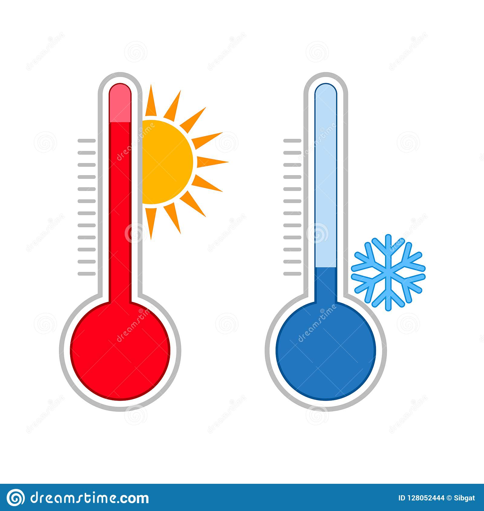 Meteorology Thermometers Measuring Hot And Cold