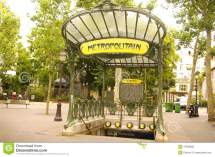Metro Place Des Abbesses In Montmartre Editorial