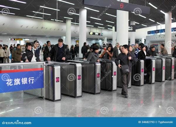 Metro Station In Shanghai Editorial Stock Photo Image