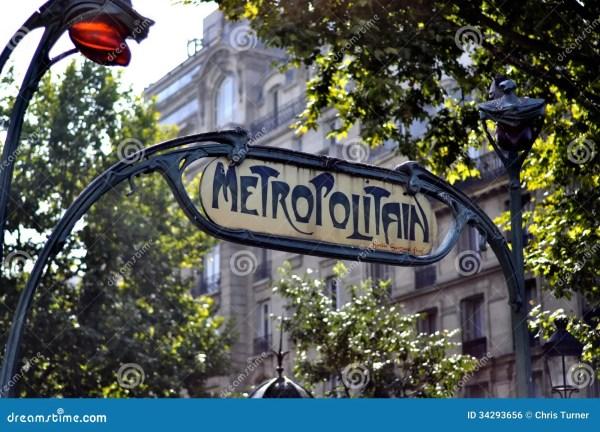 France Paris Metropolitan Sign