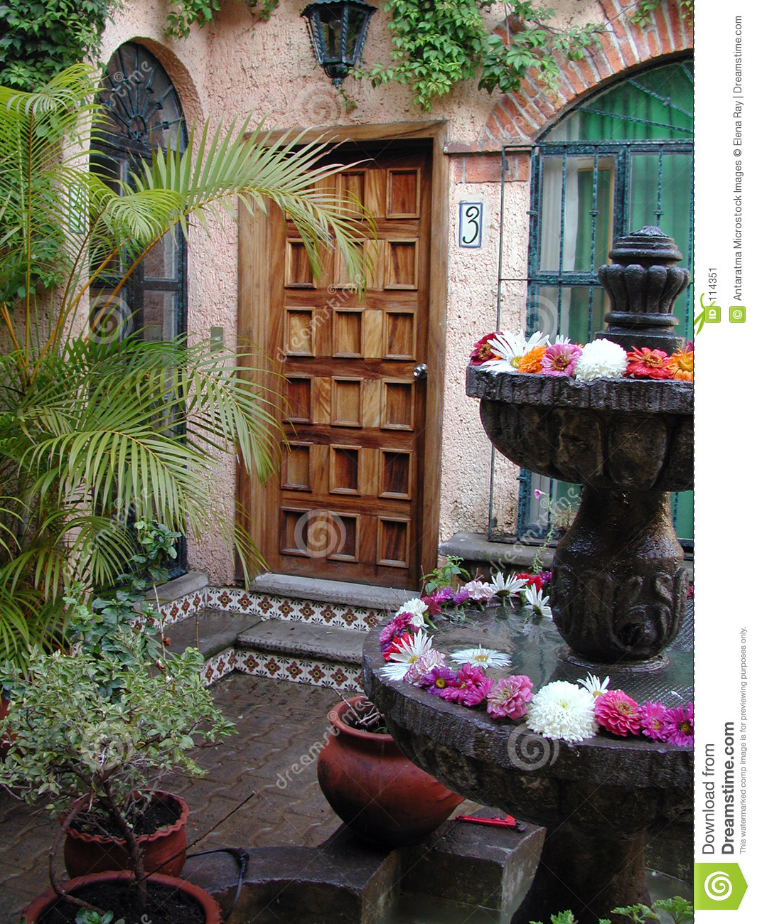 Mexican Patio Entry Stock Image  Image 114351