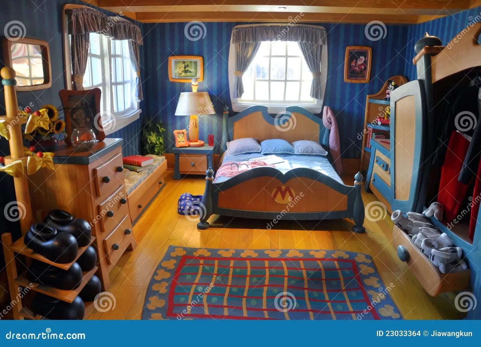Mickeys Bedroom In Disney World Orlando Editorial Stock