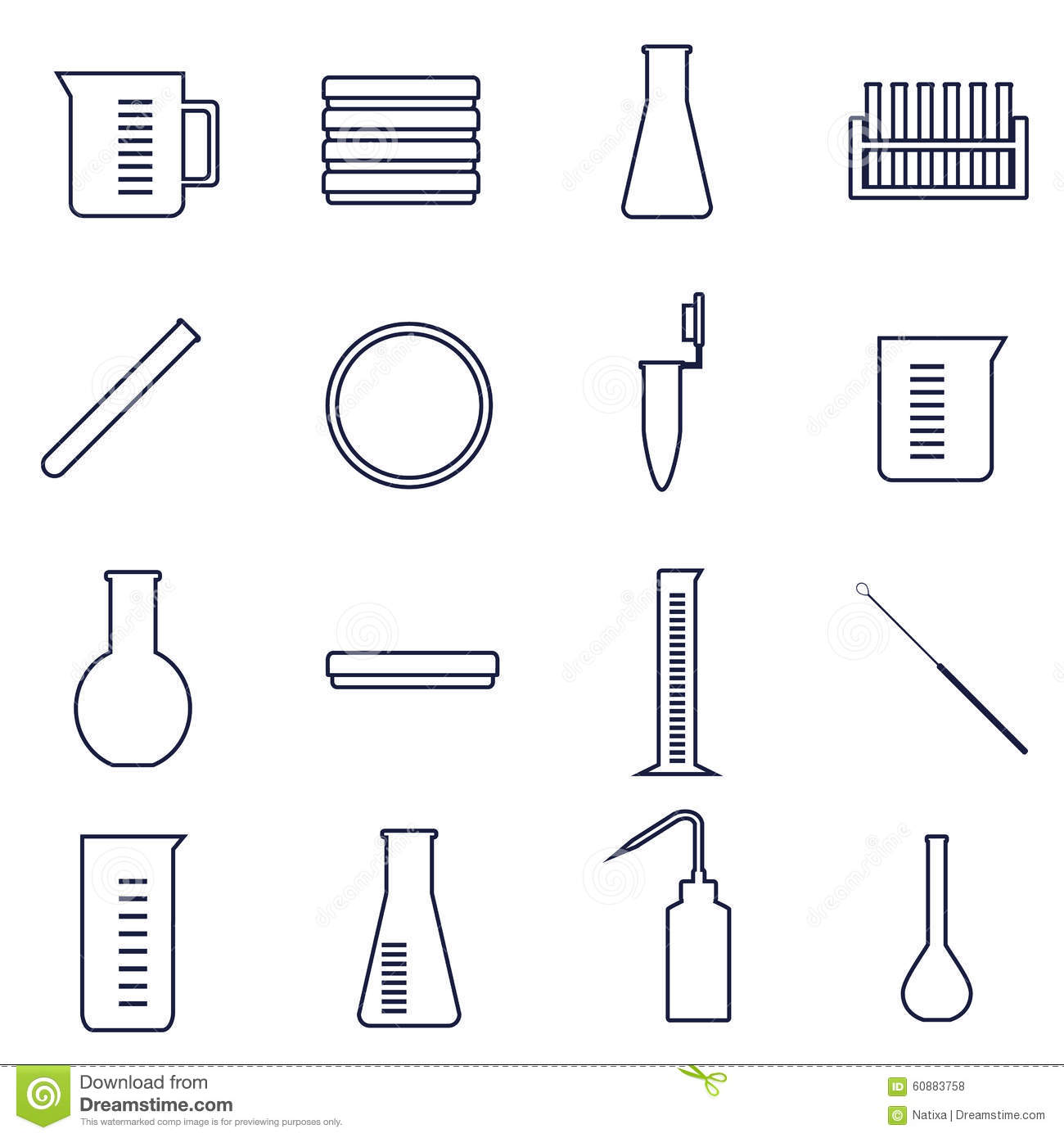 Microbiology Icons Stock Vector Illustration Of Bottle