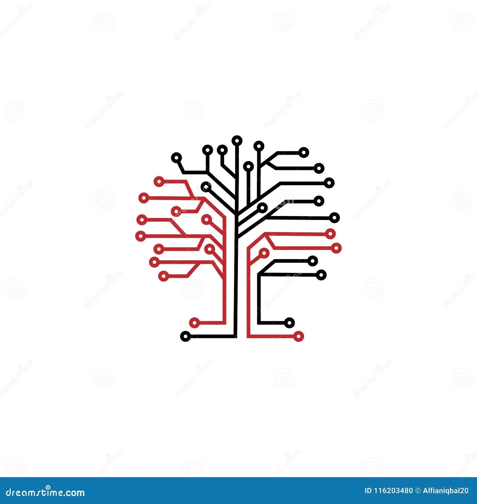 Learning Tree Logo Vector Illustration
