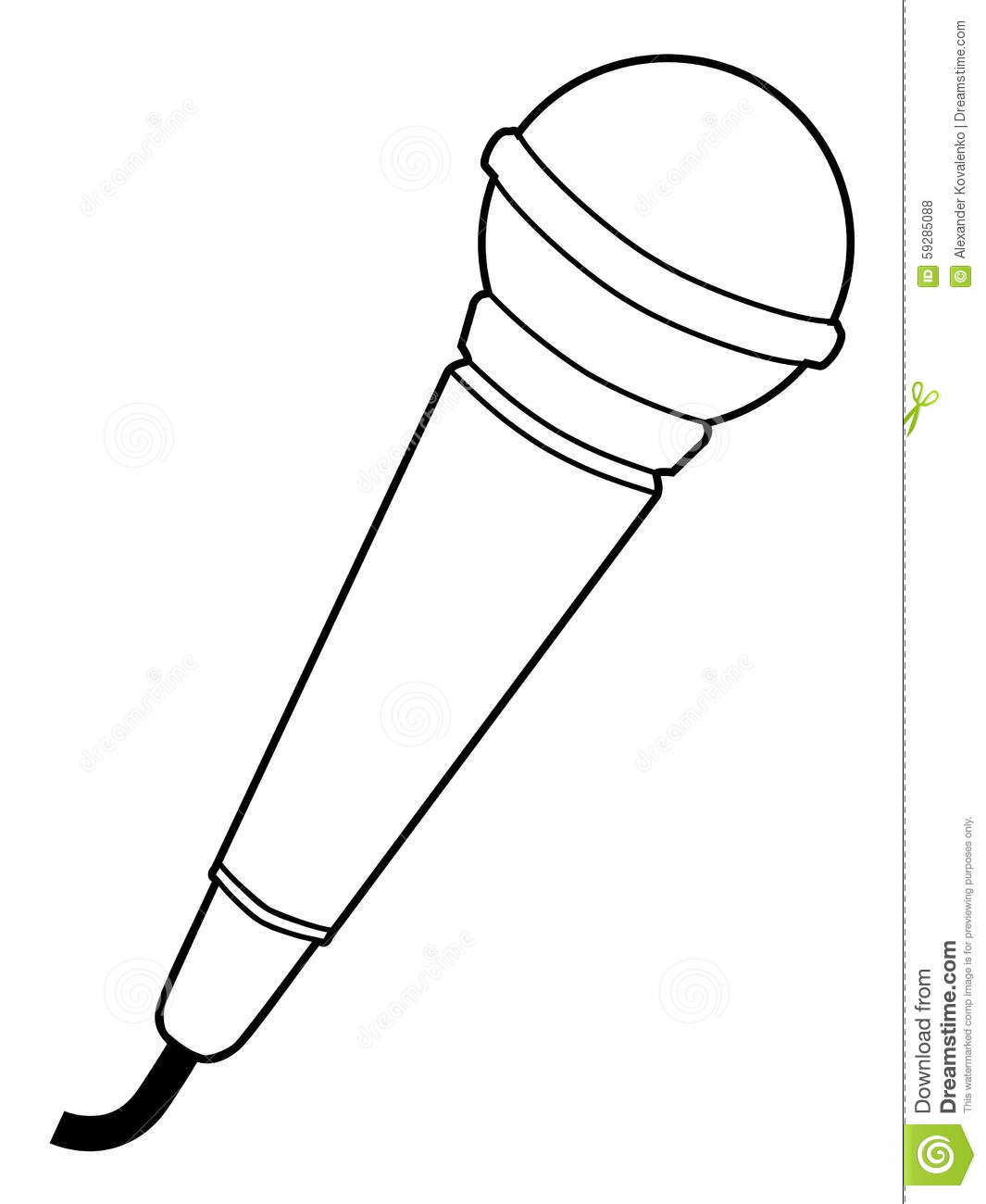 Microphone, Audio Equipment Stock Illustration