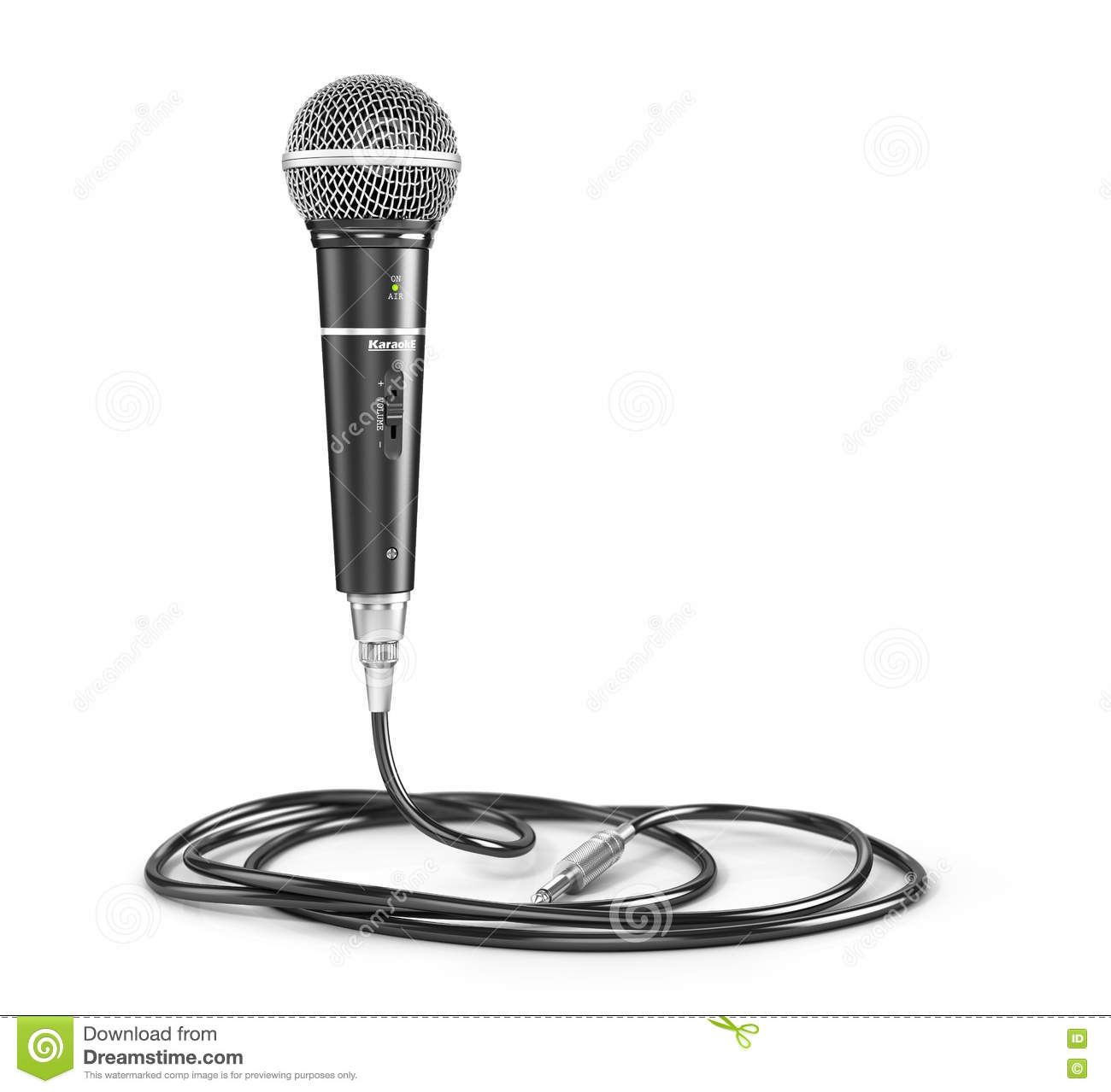 Xlr Microphone Cable Vector Illustration
