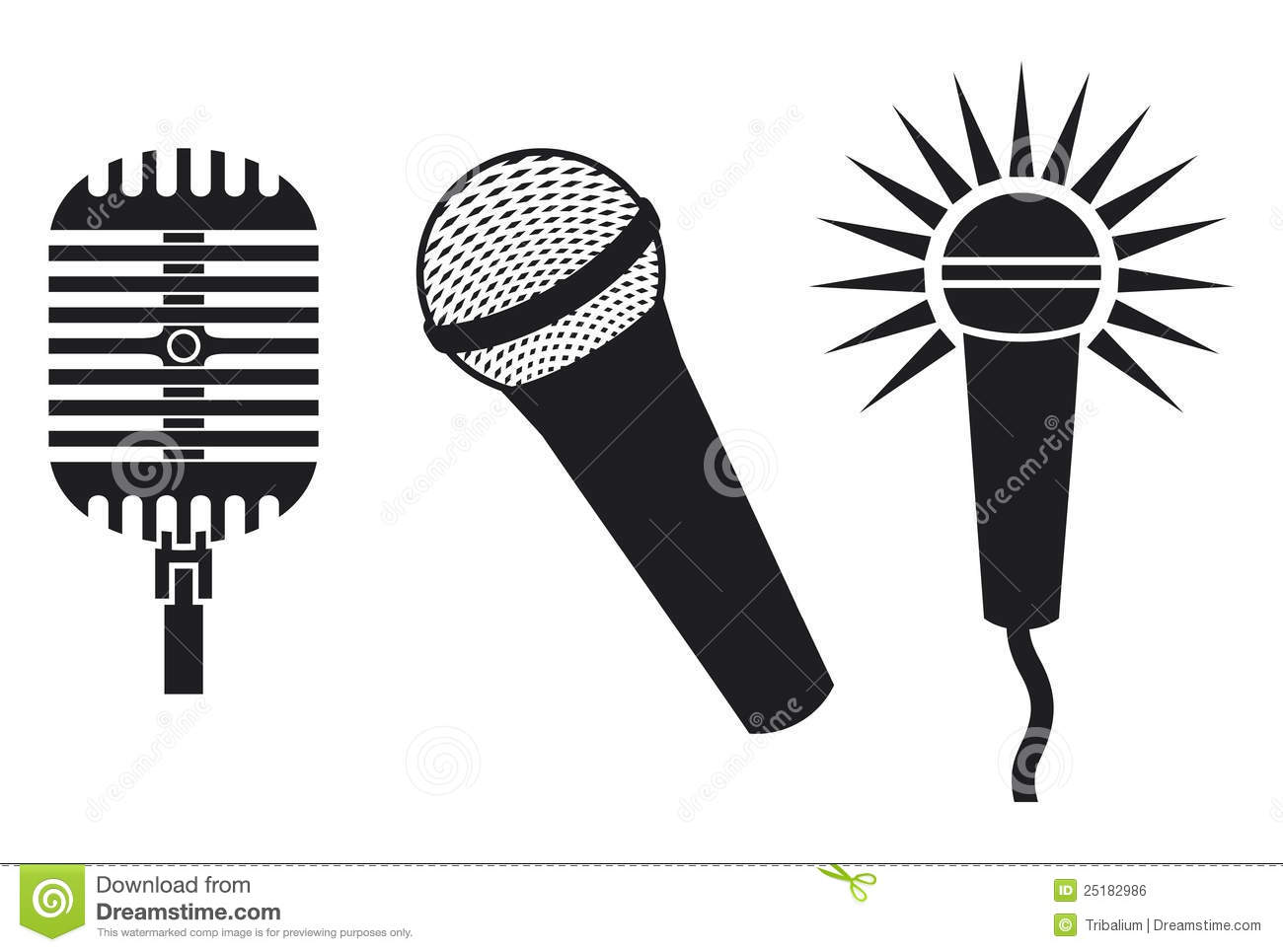 Microphones Icon Royalty Free Stock Image