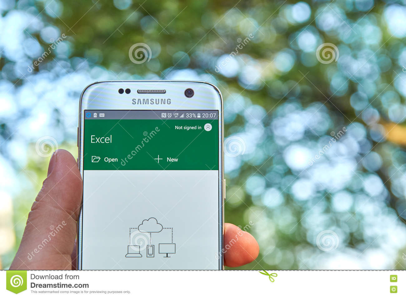 Microsoft Office Excel App Editorial Stock Image Image Of