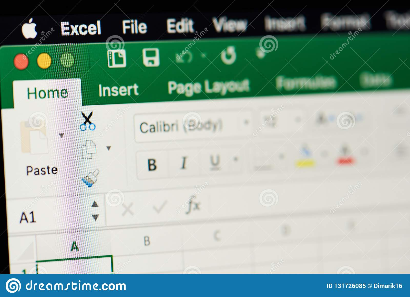 Microsoft Office Excel Spreadsheet Editorial Image
