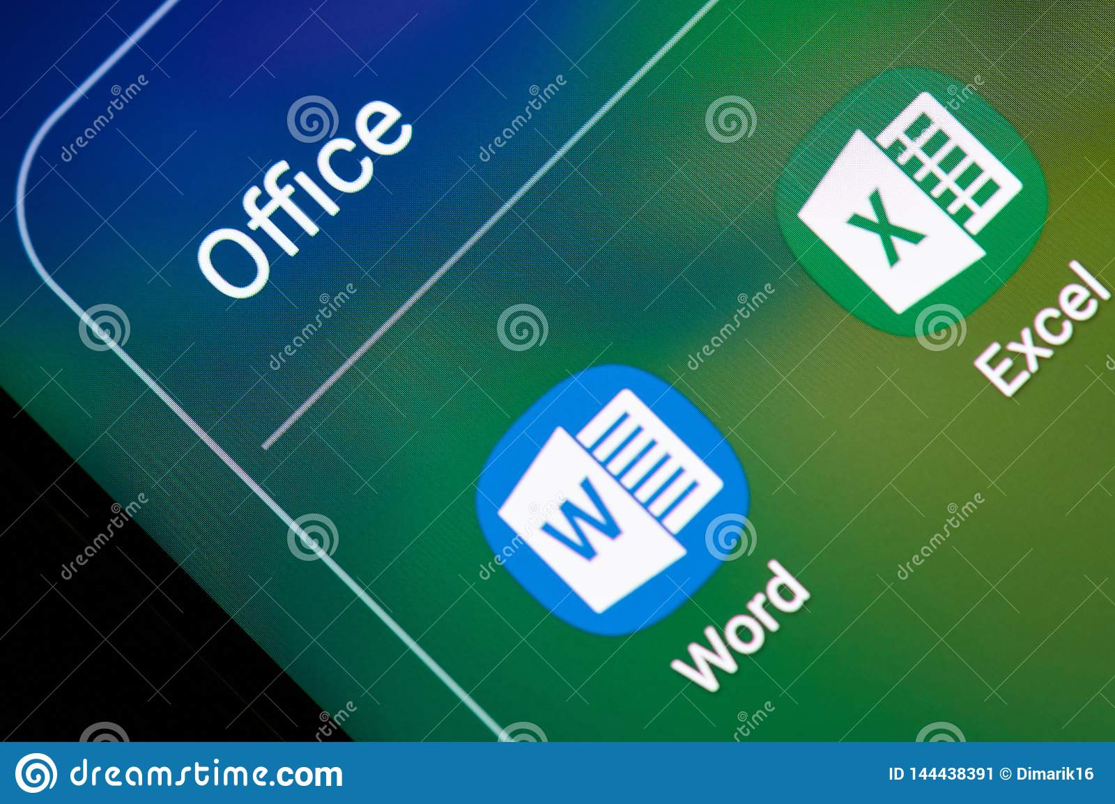 Microsoft Office Excel And Word Application Editorial