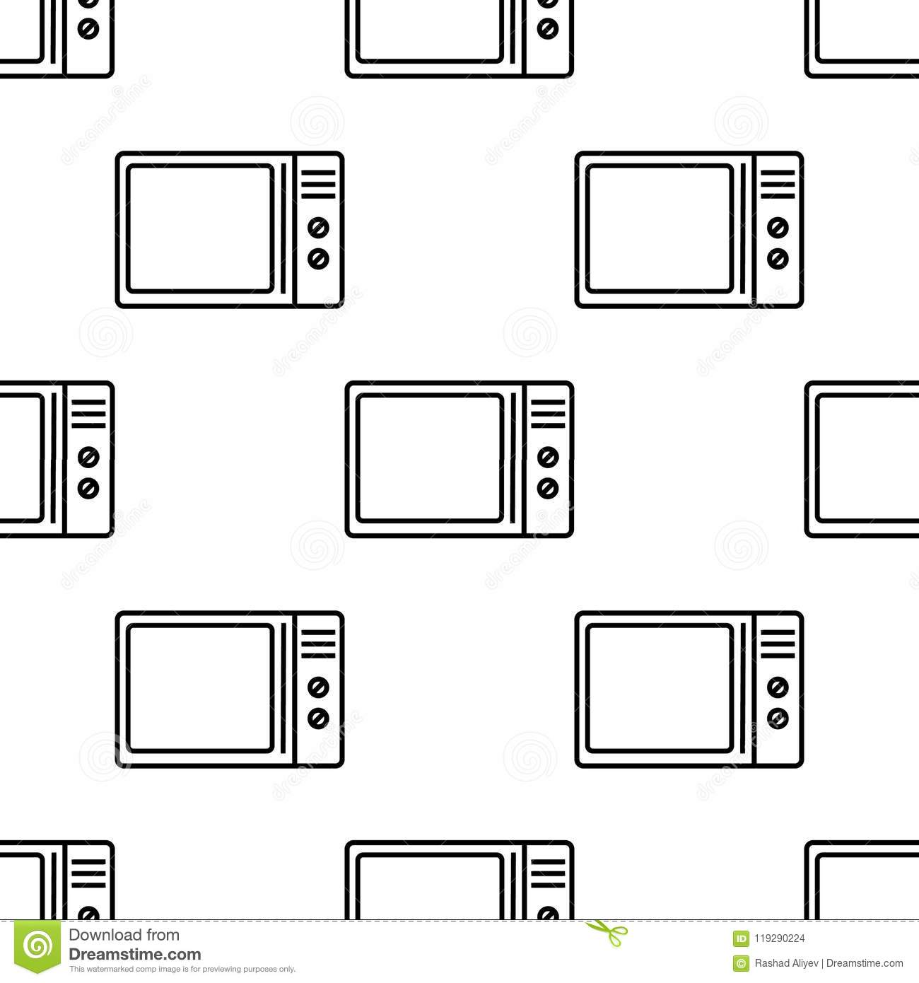 Microwave Icon. Element Of Appliances Icon For Mobile