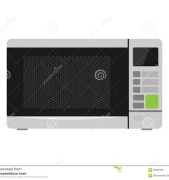 microwave oven equipment vector illustration kitchenware appliance hot symbol electric tool and domestic electrical cooking stove household technology  [ 1300 x 1130 Pixel ]