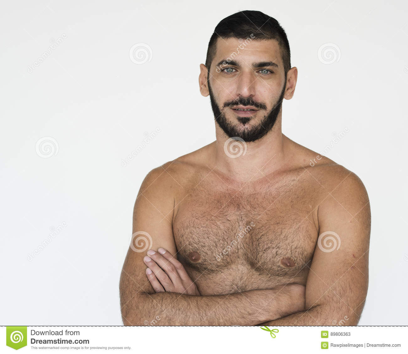 middle eastern man bare