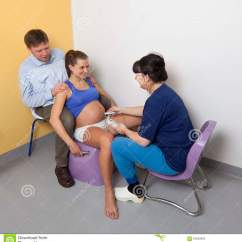 Birth Chair For Delivery Scandinavian Design Midwife Listens To Child 39s Heartbeat Stock Photo Image