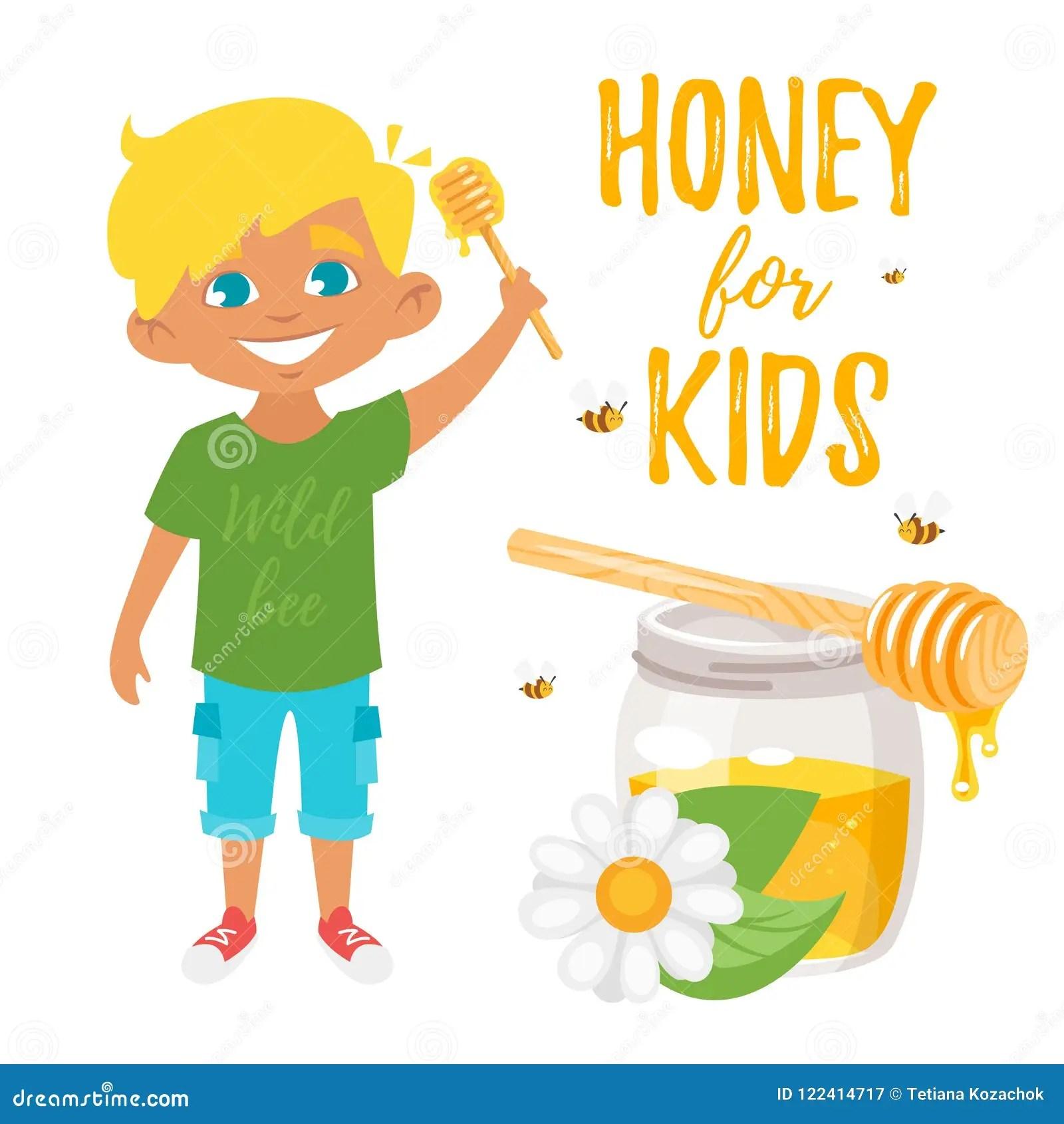 https fr dreamstime com miel l illustration d enfants image122414717