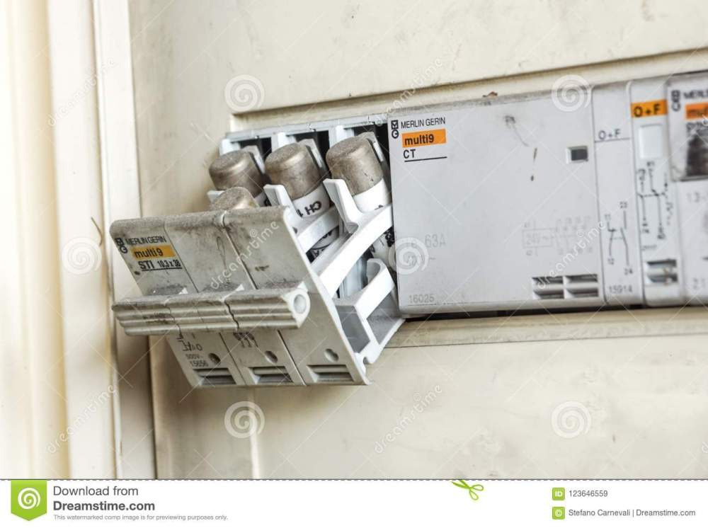 medium resolution of milan italy june 30 2018 electricity main center and old electrical fuse box with porcelain fuses