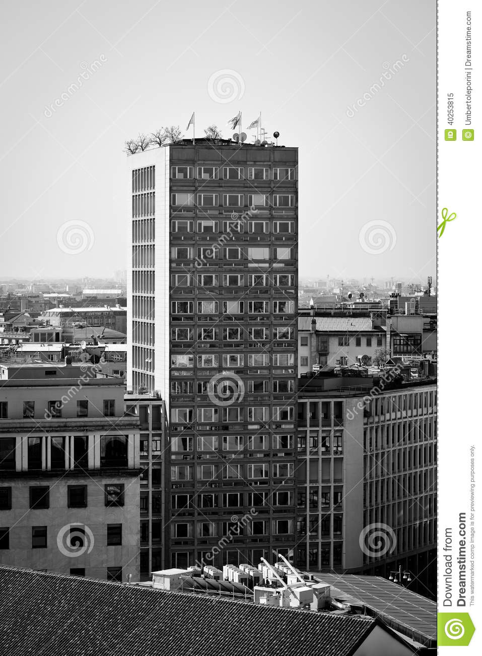Milan Lombardy Italy  April 24 2014 Milan City Building Editorial Image  Image of terrazza