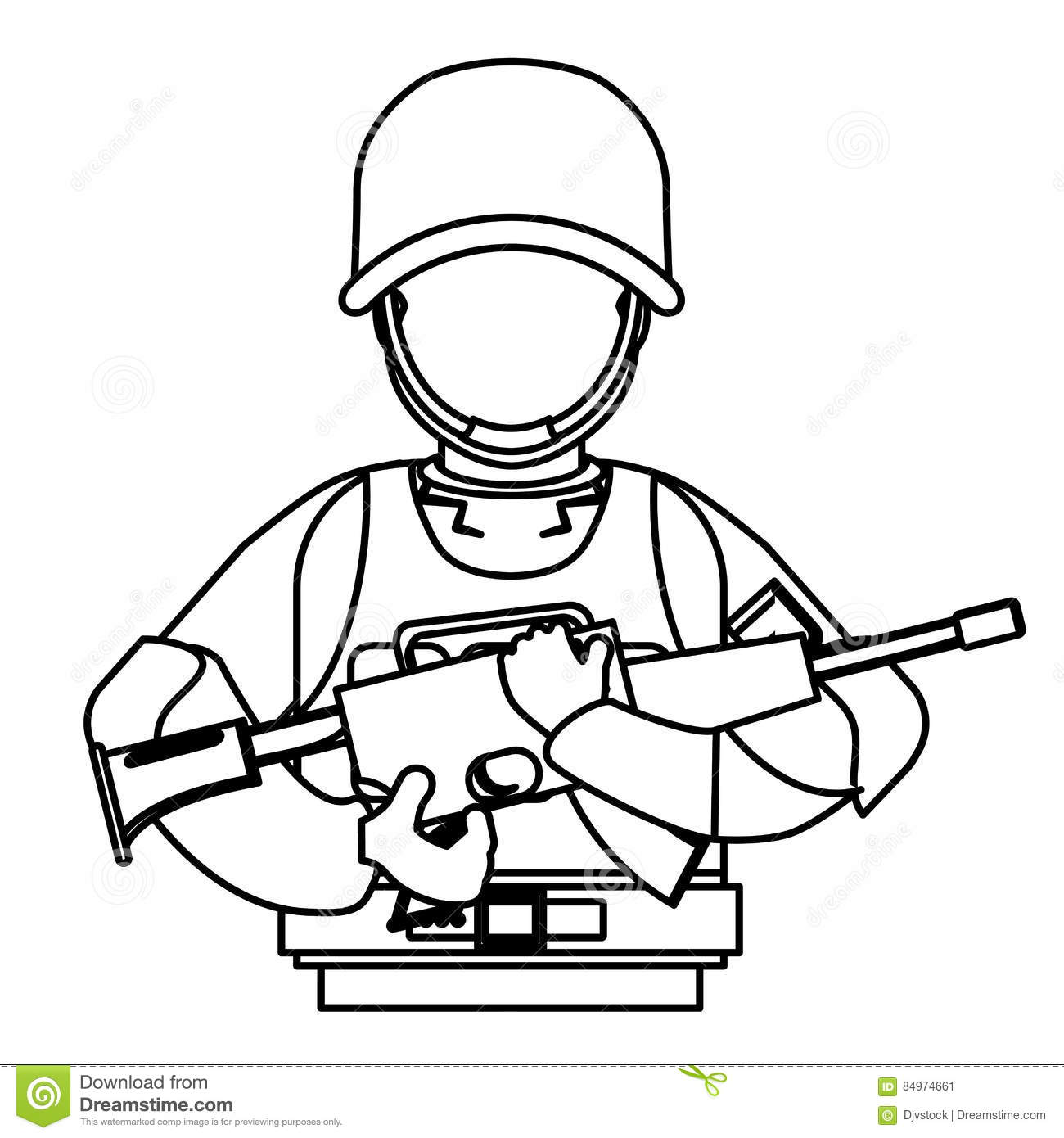 Special Forces Uniform Stock Illustrations