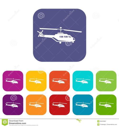 small resolution of military helicopter icons set