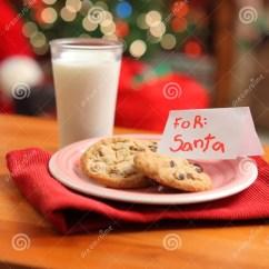 Santa Claus Chair Revolving Repair In Lahore Milk And Cookies For Stock Image. Image Of - 11259883