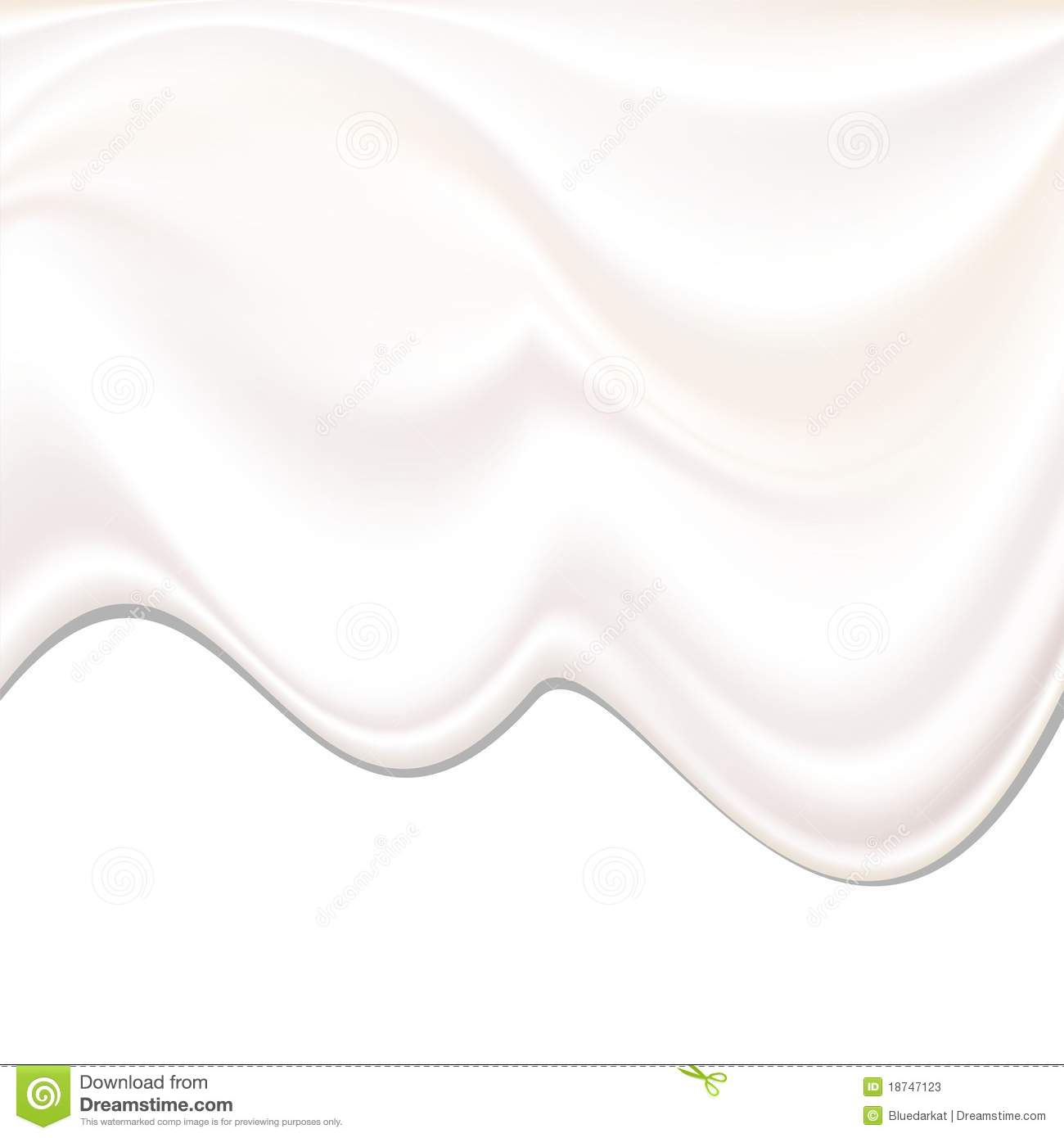 Milk Cream Wave Background Stock Illustration