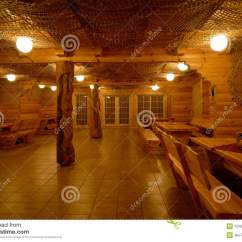 Flooring Design For Living Room Luxury Sofa Milled Log House Interior Royalty Free Stock Images ...