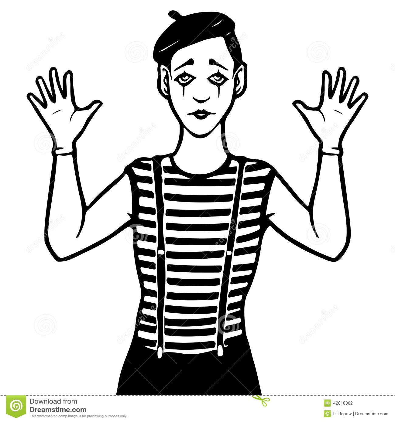 Mime Illustration Stock Vector Illustration Of