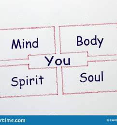 mind body spirit soul and you drawing diagram on white background growth concept [ 1600 x 1155 Pixel ]