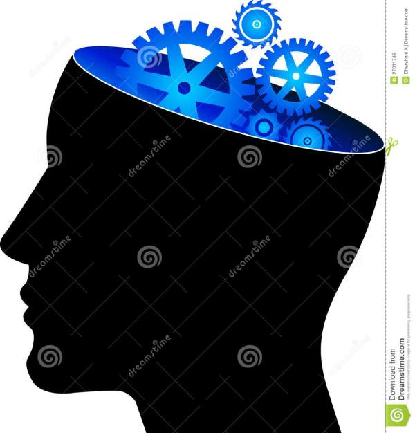 Mind Gear Stock Vector. Of Education Color