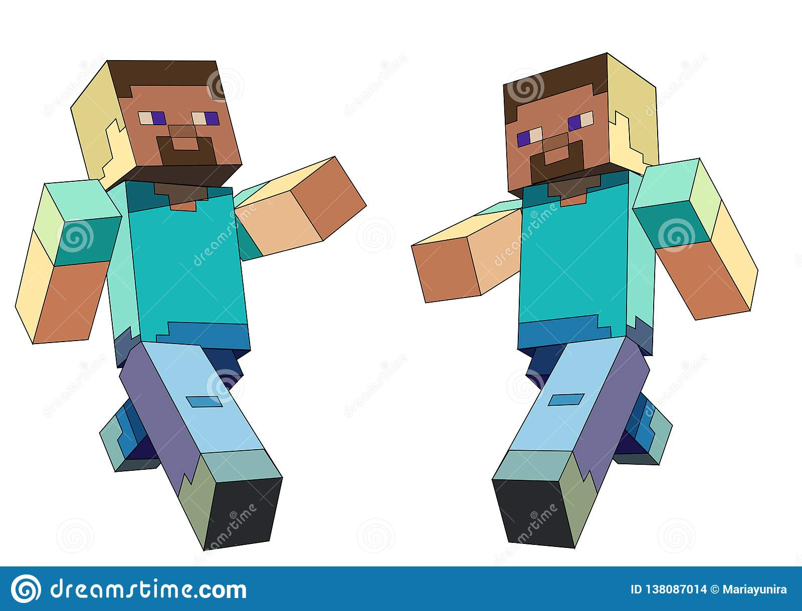 minecraft character editorial stock