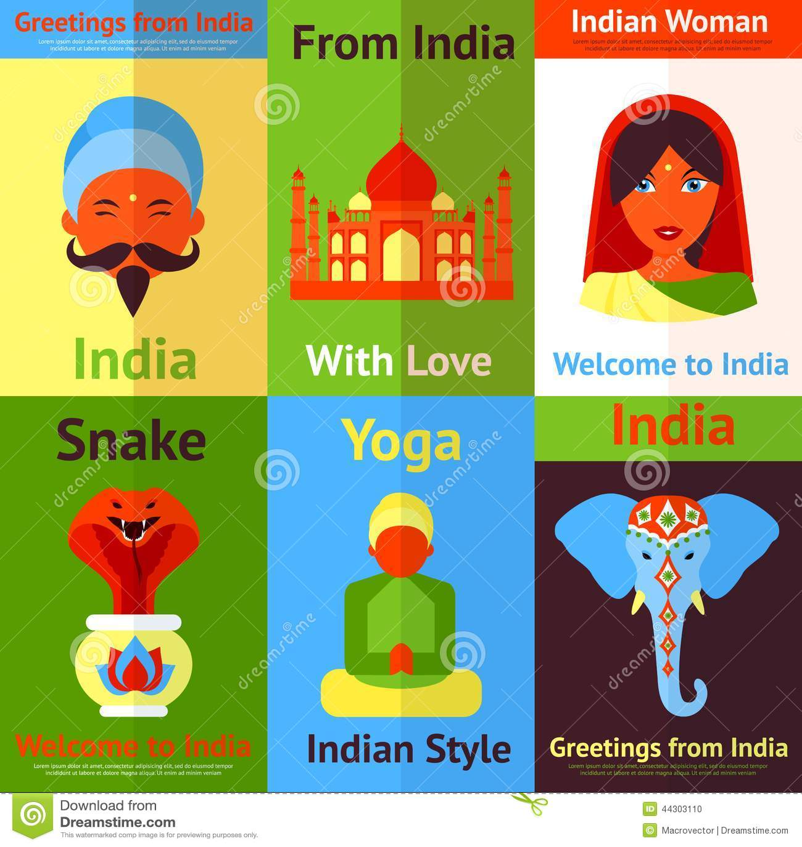 Mini Cartaz Da India Ilustracao Do Vetor Ilustracao De