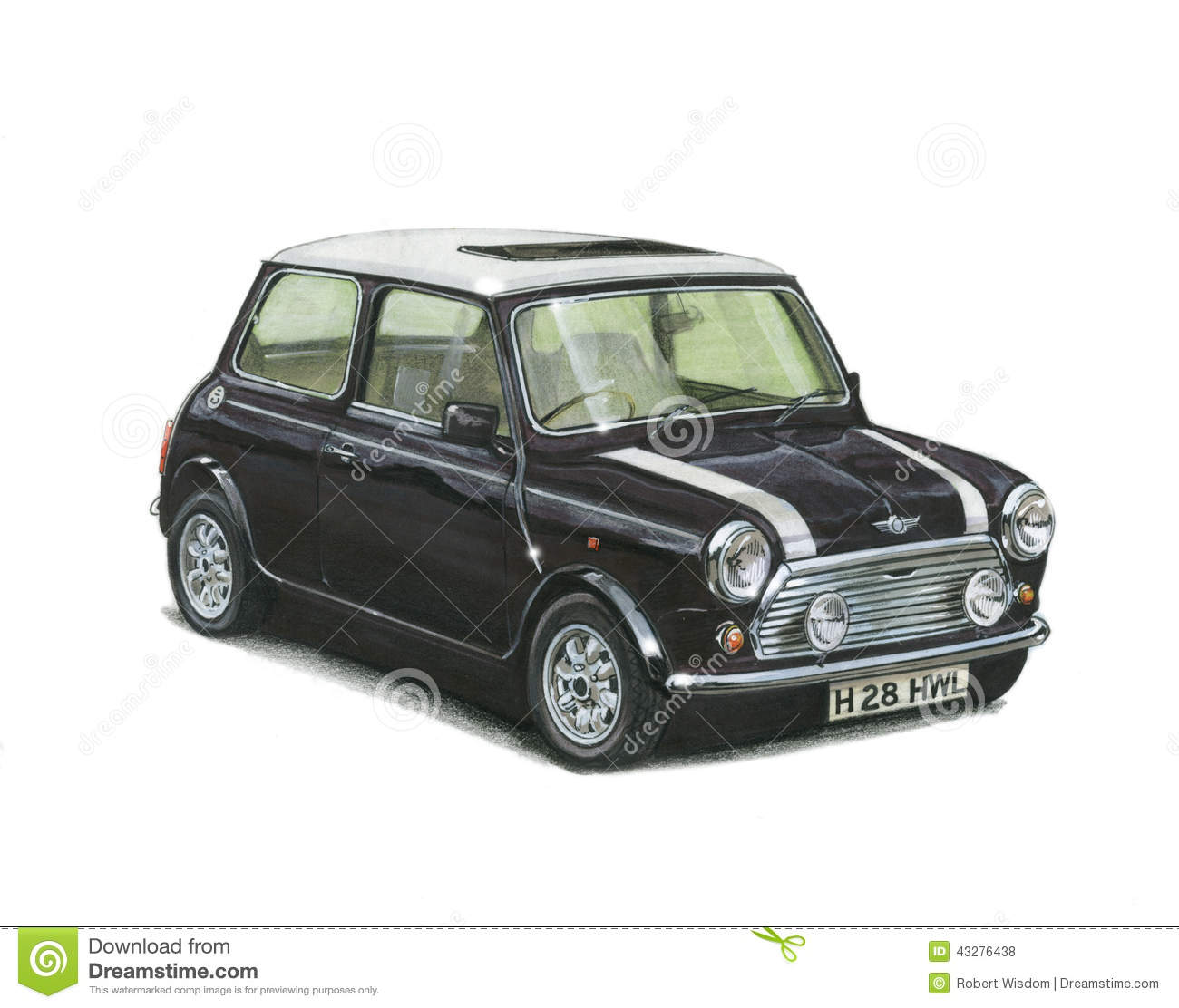 hight resolution of illustration of a mini cooper