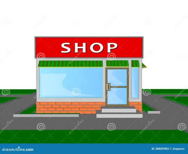 Mini Market Store Retail Shopping Face Stock Vector
