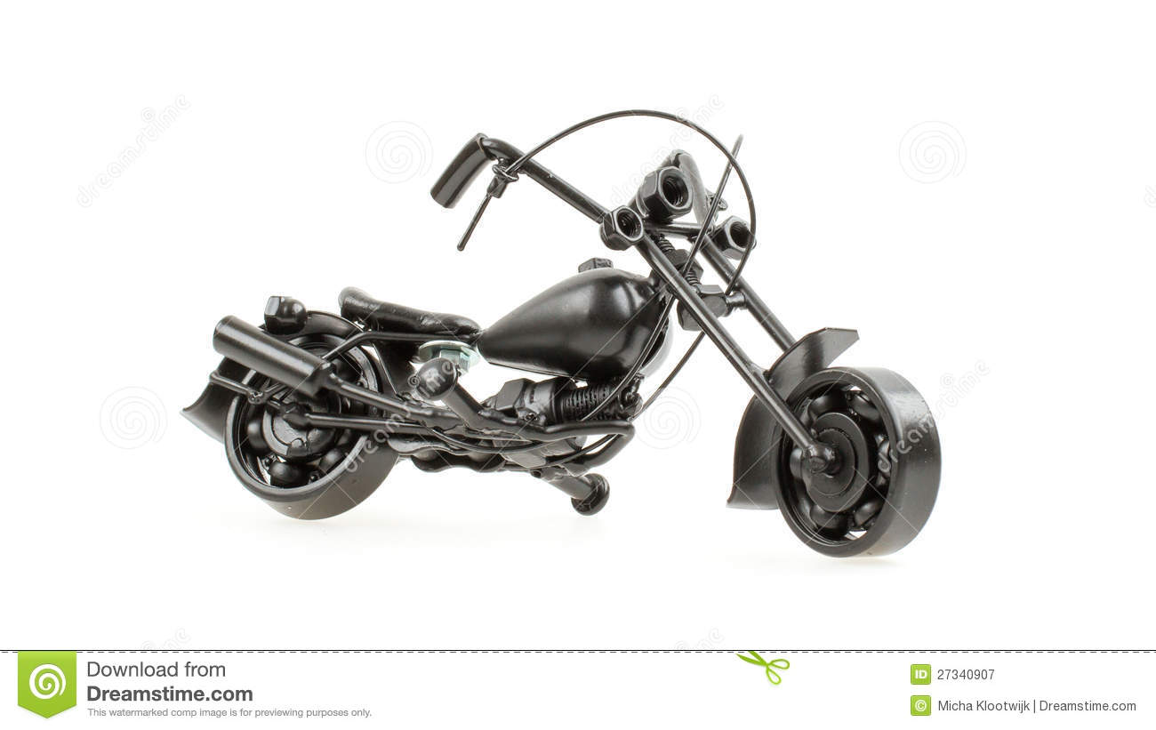 Mini Motorcycle Made From Wire And Different Motorcycle