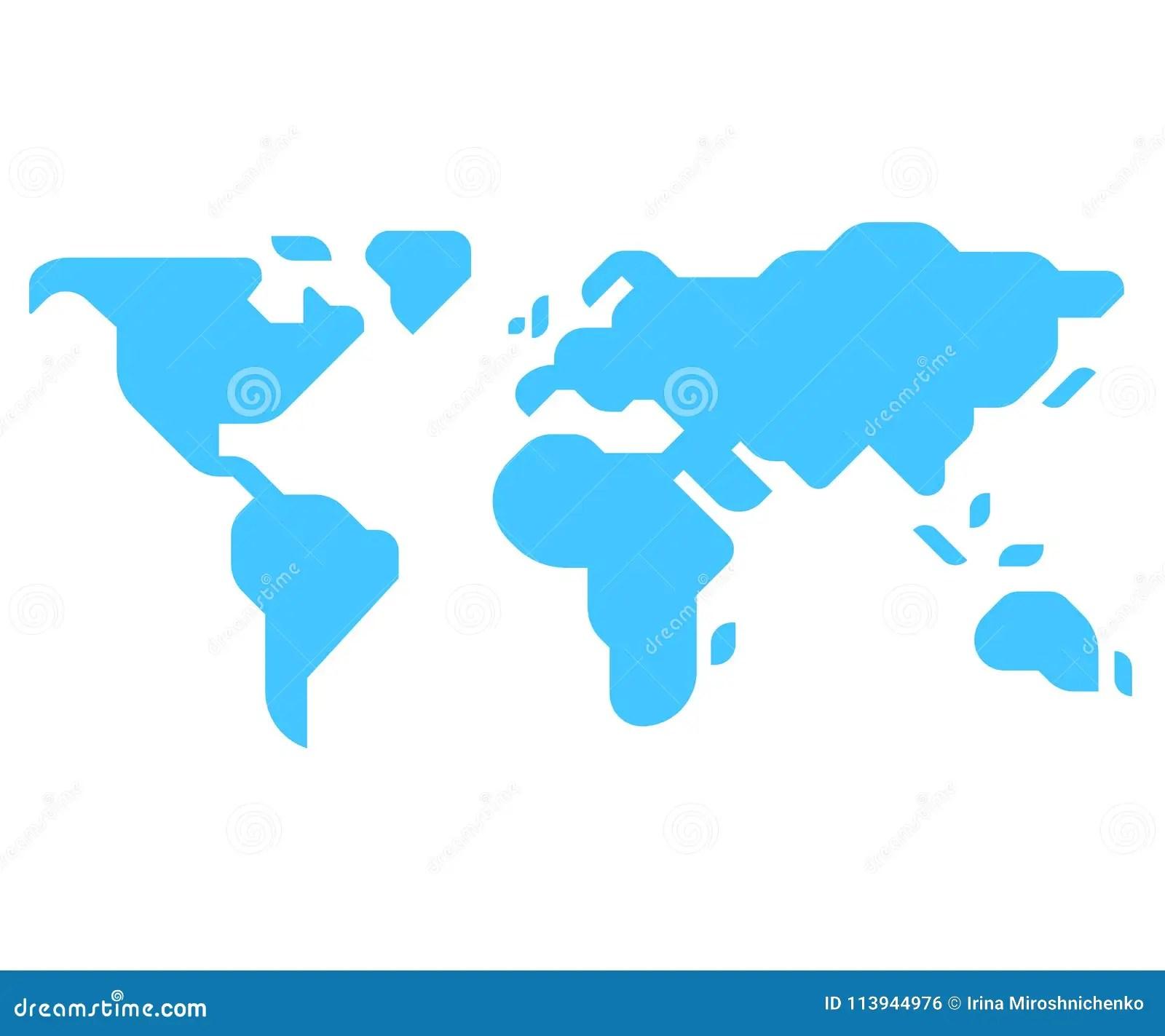 Minimal Style World Map Stock Vector Illustration Of